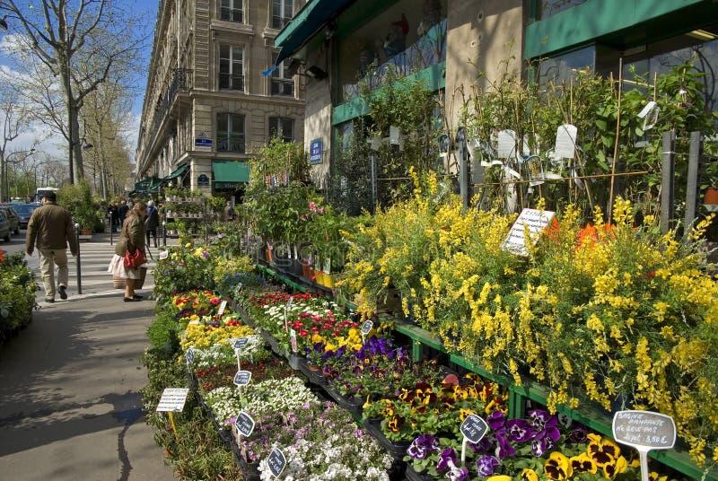 blomsterhandlaren france paris s shoppar royaltyfria foton