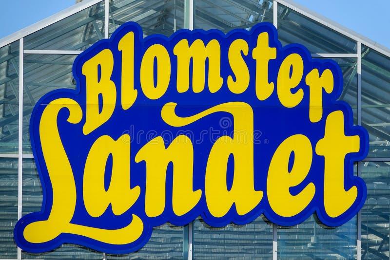 Blomsterlandet, svensk trädgård och växtlager royaltyfria bilder