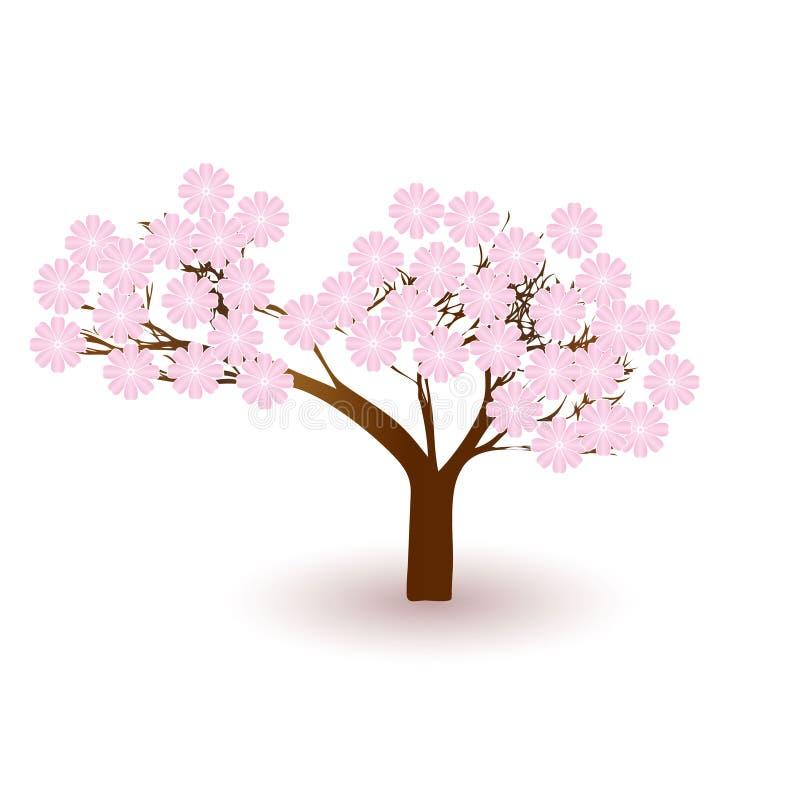 blomstra treevektor royaltyfri illustrationer