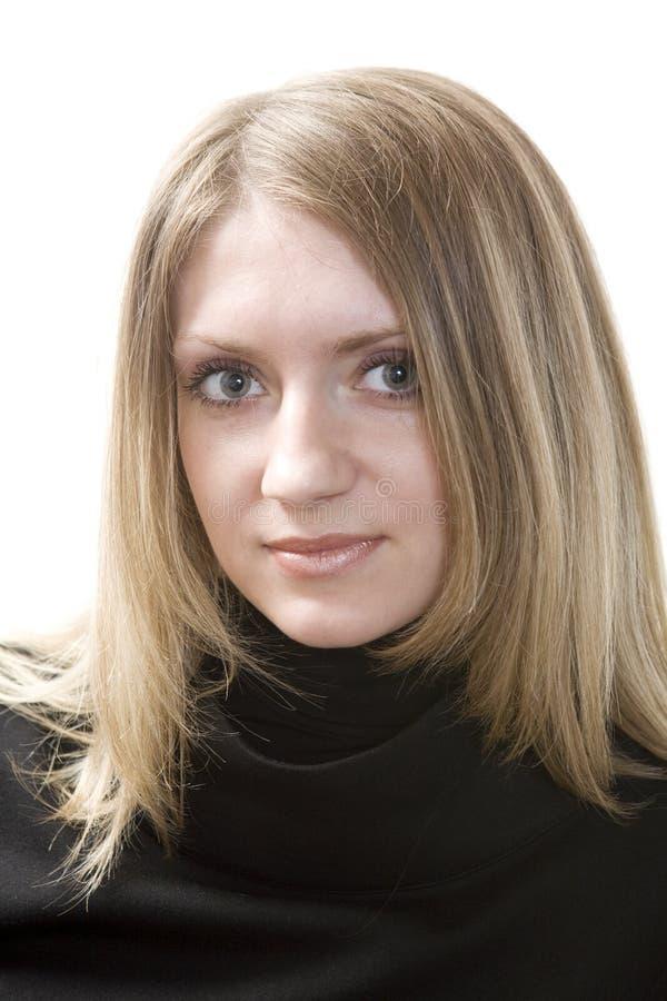 blond allvarlig kvinna arkivbilder