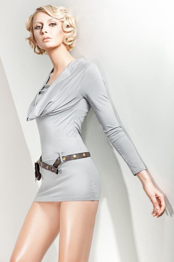 blond attraktiv skönhet royaltyfri fotografi