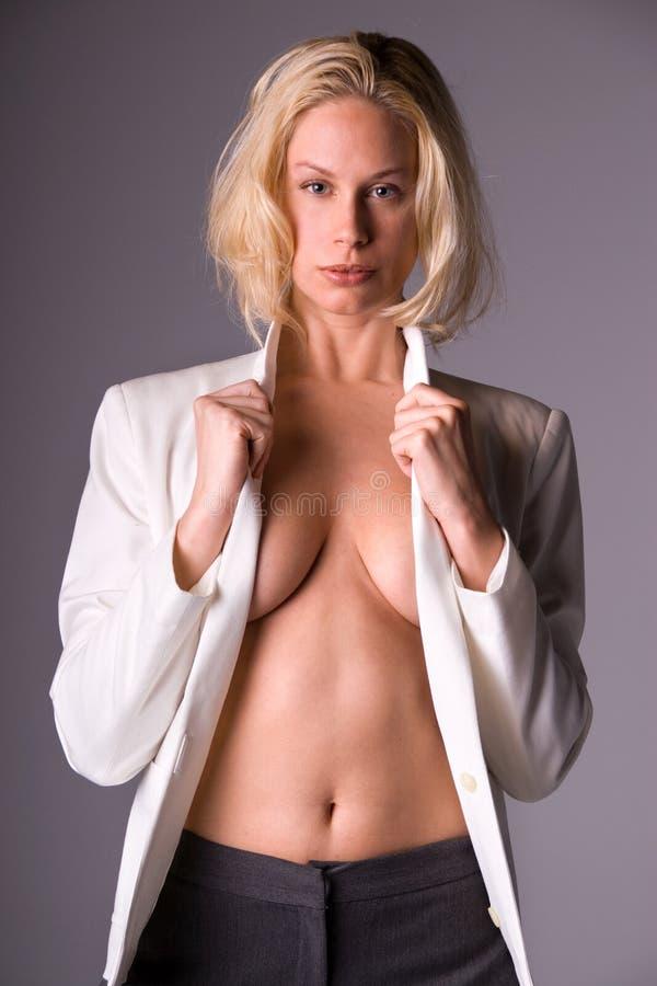 Blond attrayant. photo stock