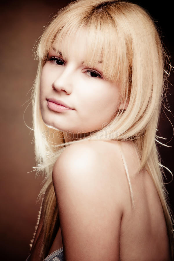 Blond beauty stock images