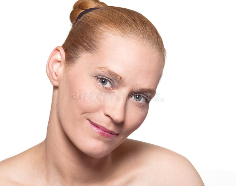 Blond beauty portrait stock image