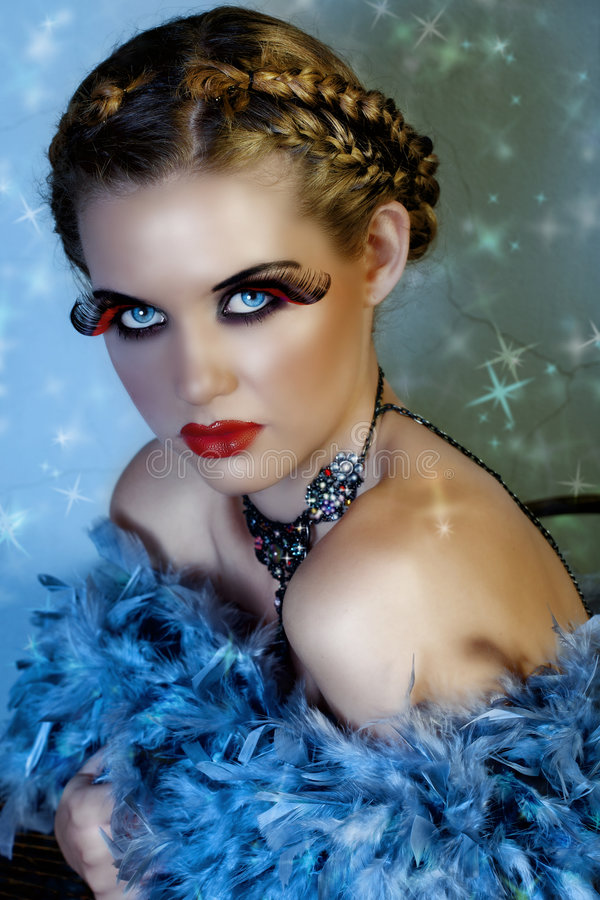 Download Blond beauty with stars stock photo. Image of background - 7911056