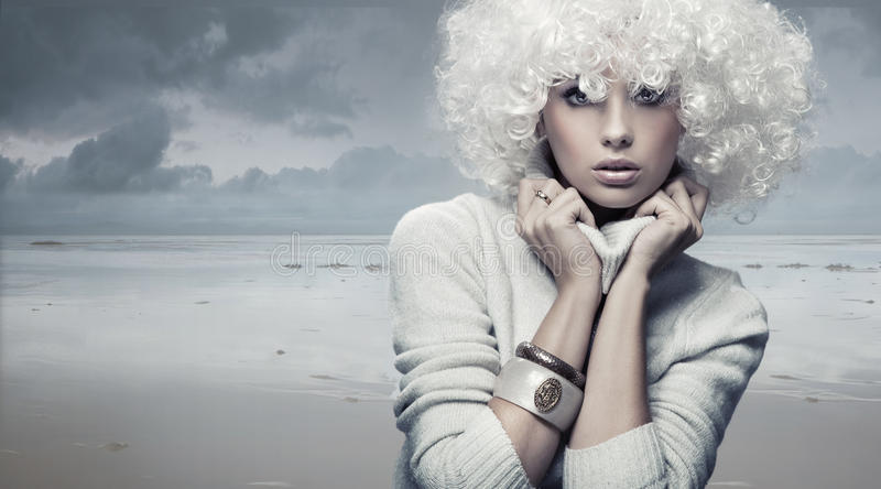 Blond beauty woman royalty free stock images