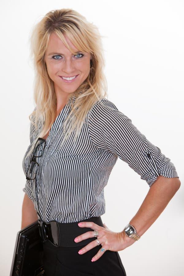 Blond biznesowa kobieta fotografia stock
