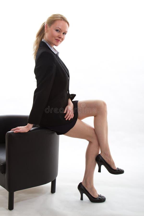 blond bizneswomanu blond ładny zdjęcie stock