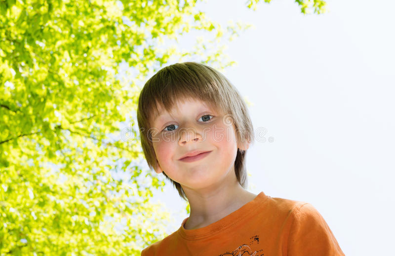 Download Blond Boy Enjoying Sunny Day In A Park Stock Photo - Image of parl, person: 30919012