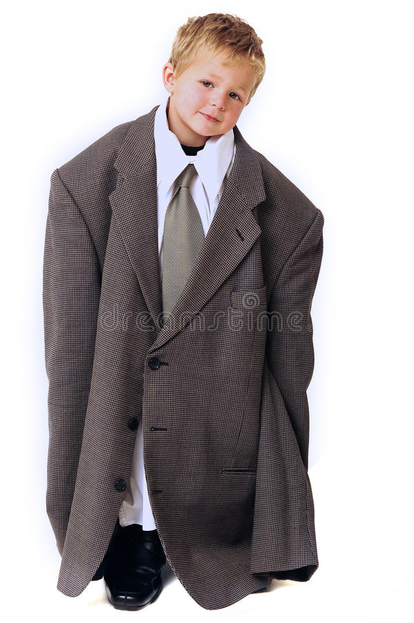 Free Blond Boy In Business Clothes Royalty Free Stock Photography - 13348447