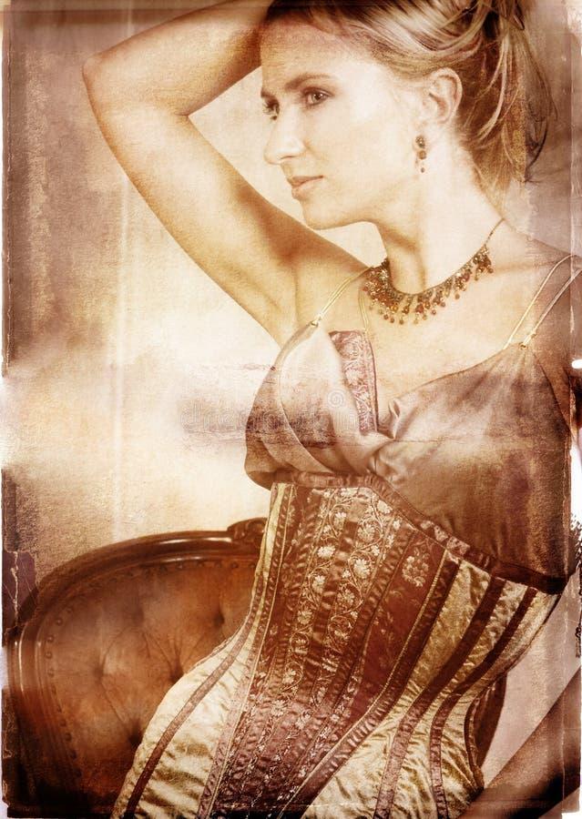 blond brudgrunge royaltyfri bild