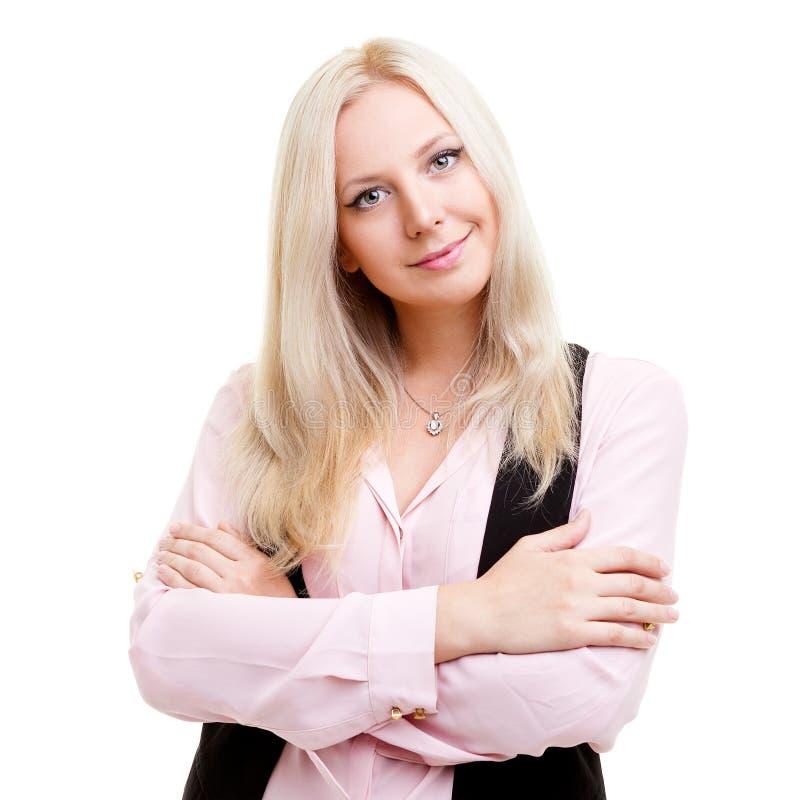 Blond businesswoman Portrait stock images