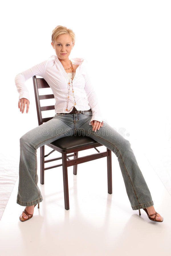 Download Blond chair4 stock photo. Image of chair, eyes, model, inside - 433418