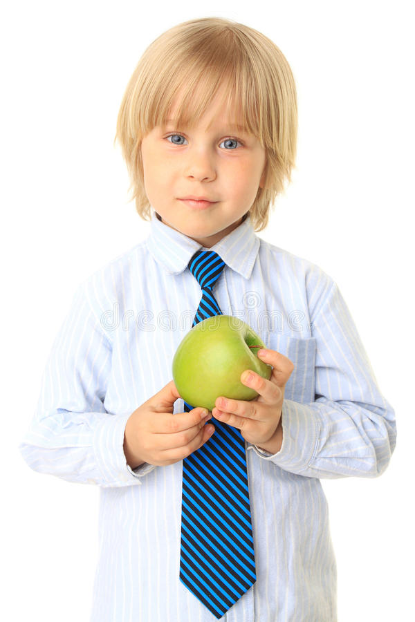 Download Blond Child Holding Fruit. Series Stock Image - Image: 15083421