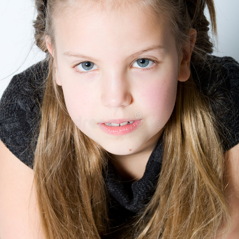 Download Blond Child Making Eye Contact Stock Image - Image of adorable, friendly: 4063861