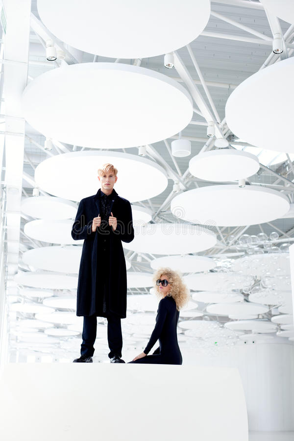 Download Blond Couple Classic Secret Agent And Girl Stock Image - Image: 23308909