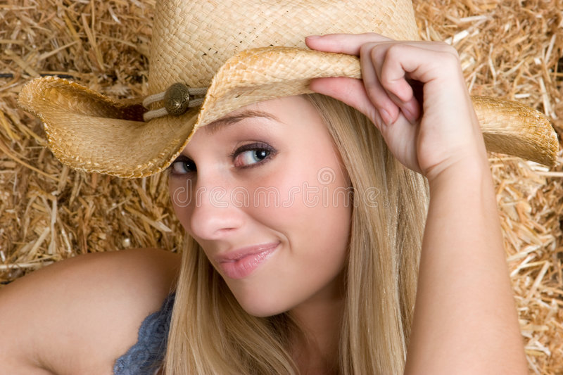 Blond Cowgirl royalty free stock photos