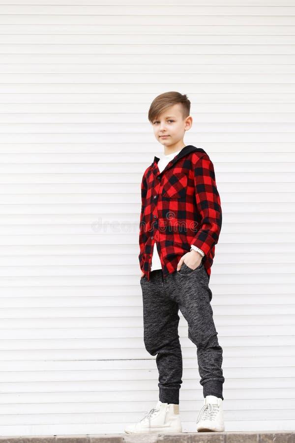 Blond cute boy stock photos