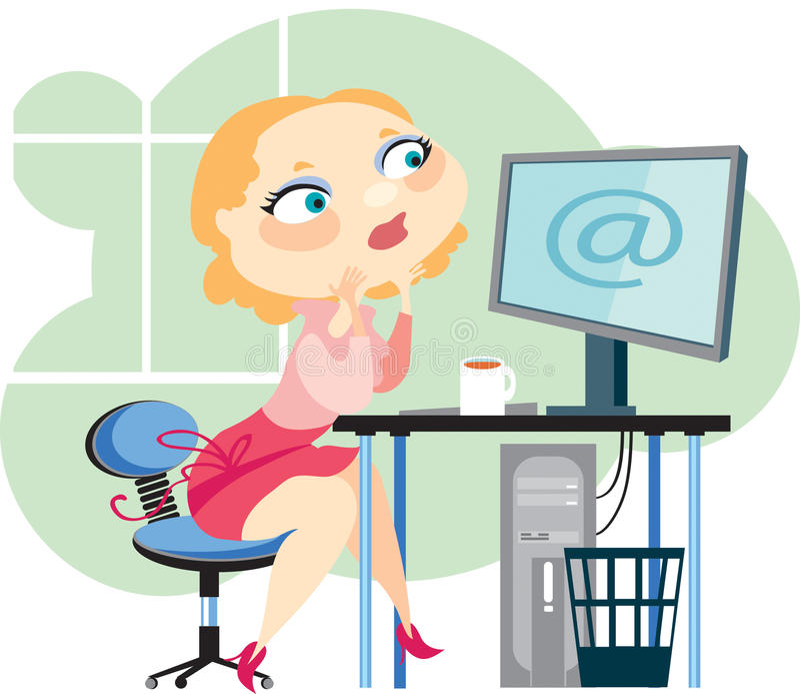 blond dator vektor illustrationer