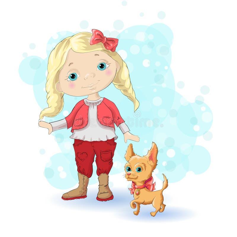 Or blond 1 de fille illustration stock