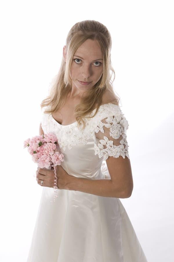 blond dress wedding young 免版税库存照片