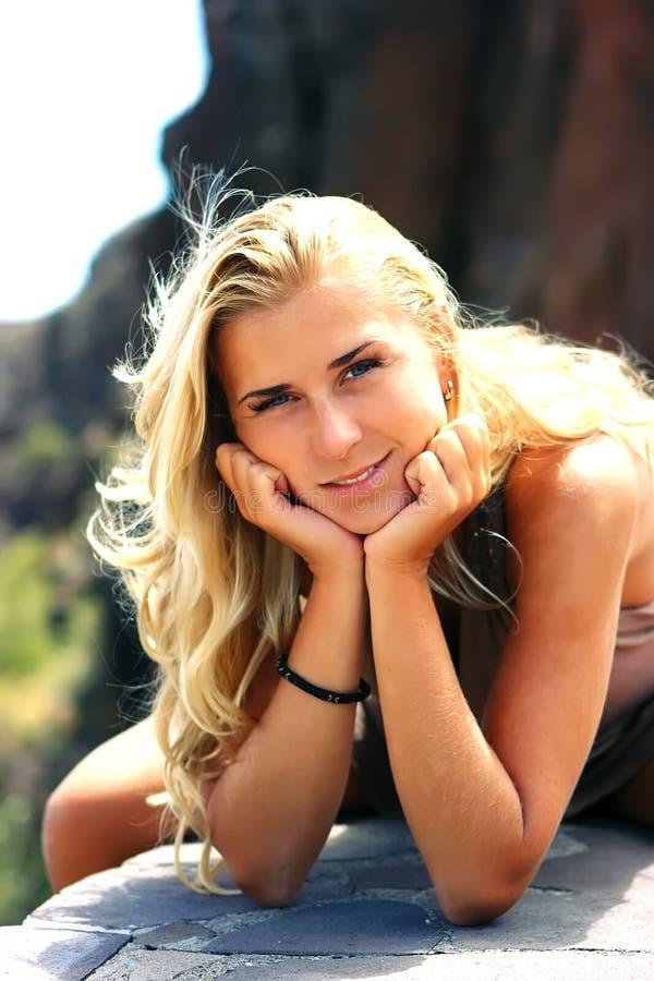blond dziewczyna obraz royalty free