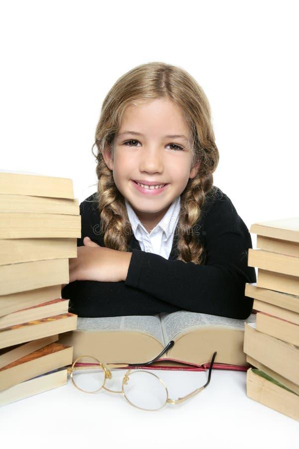 blond dziewczyny szczęśliwy mały uśmiechnięty uczeń zdjęcia royalty free