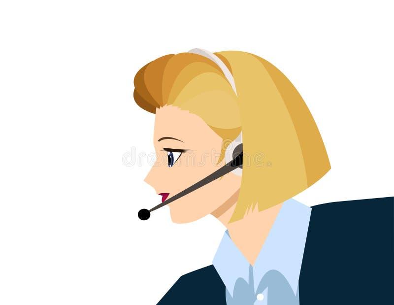 blond dziewczyny technologii wsparcia royalty ilustracja