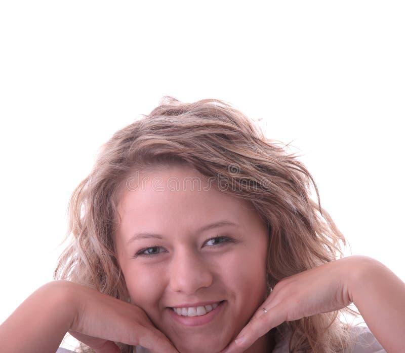 blond dziewczyny ucznia potomstwa zdjęcie stock