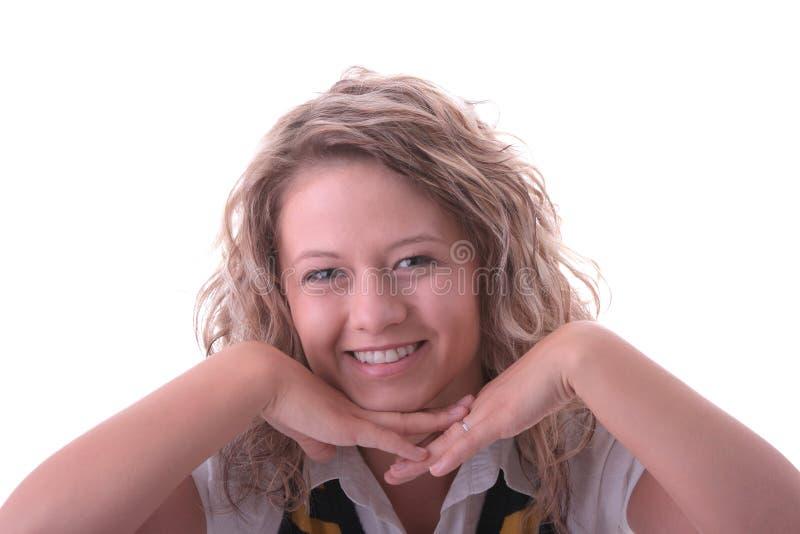 blond dziewczyny ucznia potomstwa fotografia stock