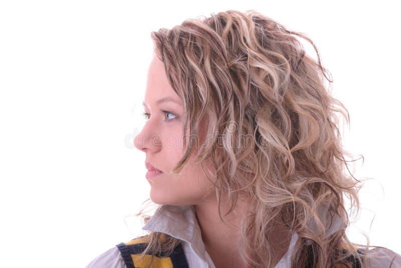 blond dziewczyny ucznia potomstwa obraz royalty free