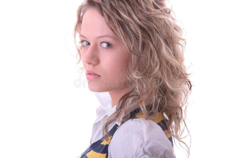 blond dziewczyny ucznia potomstwa obrazy stock