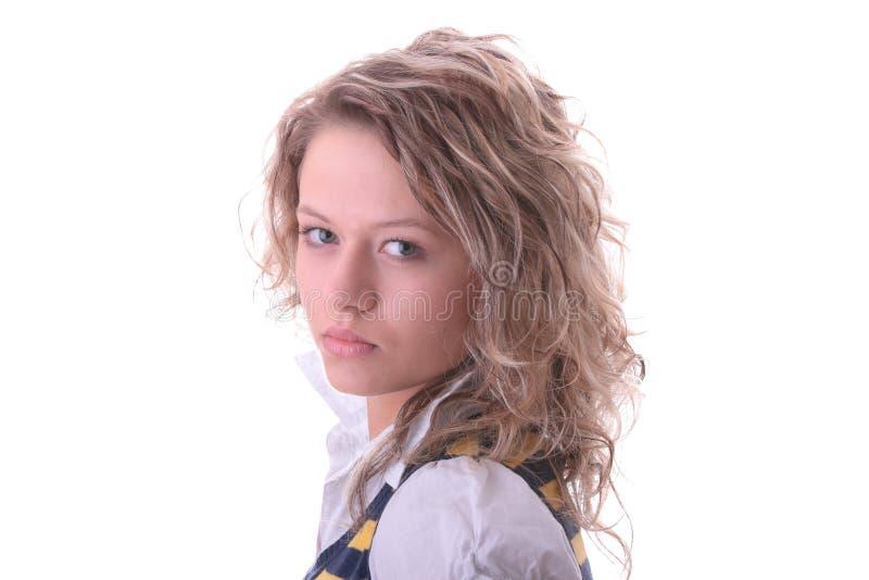 blond dziewczyny ucznia potomstwa zdjęcie royalty free