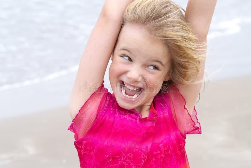 blond ekspresyjnej twarzy dziewczyna trochę obrazy royalty free