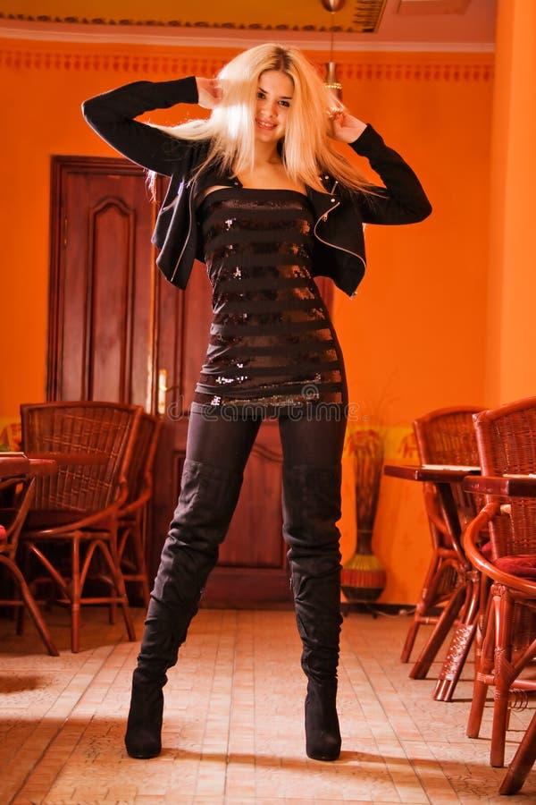 blond elegancki modny portret zdjęcia stock