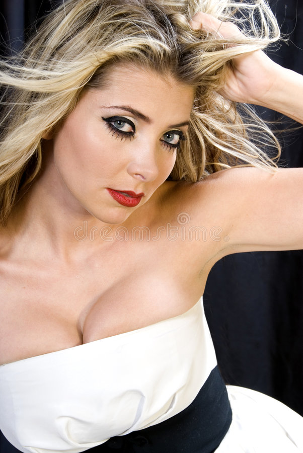 Blond fascinant. photo stock
