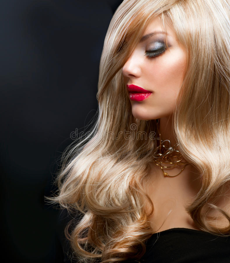 Download Blond Fashion Girl stock photo. Image of coloring, long - 25452646