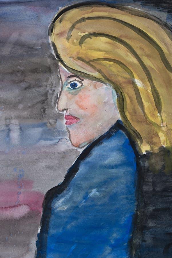 Blond Female vector illustration