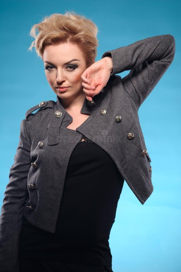 Blond femme fatale stock photos