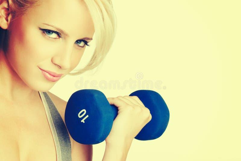 blond fitness kobieta fizycznej zdjęcia stock