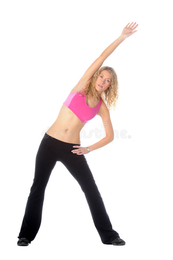 Blond Fitness Woman stock image