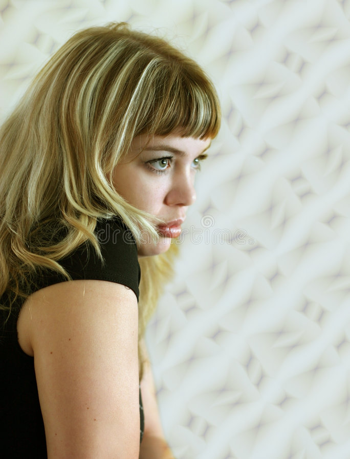blond flicka royaltyfria foton
