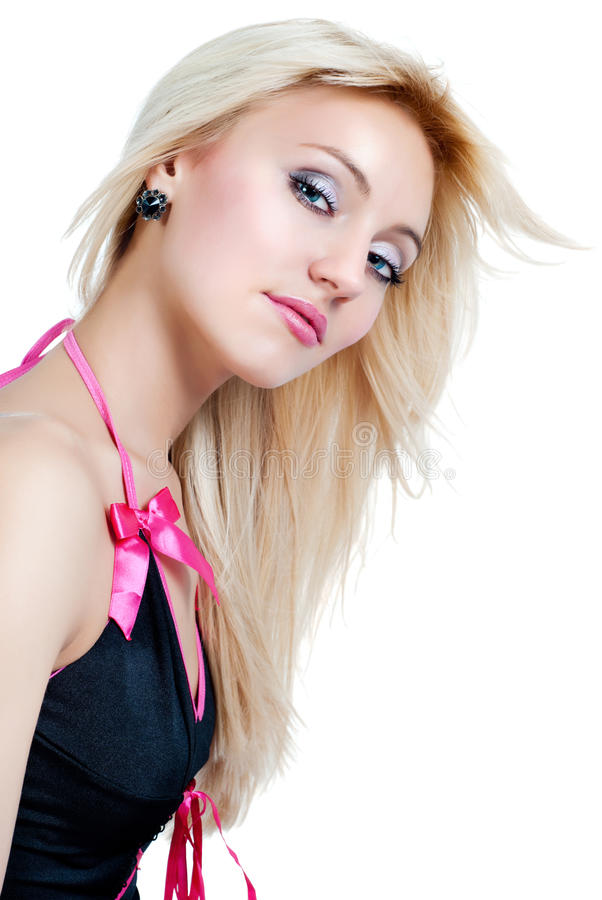Blond flicka arkivfoto