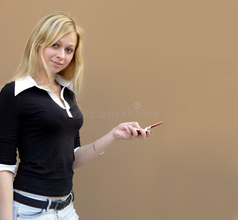 blond flicka arkivfoton