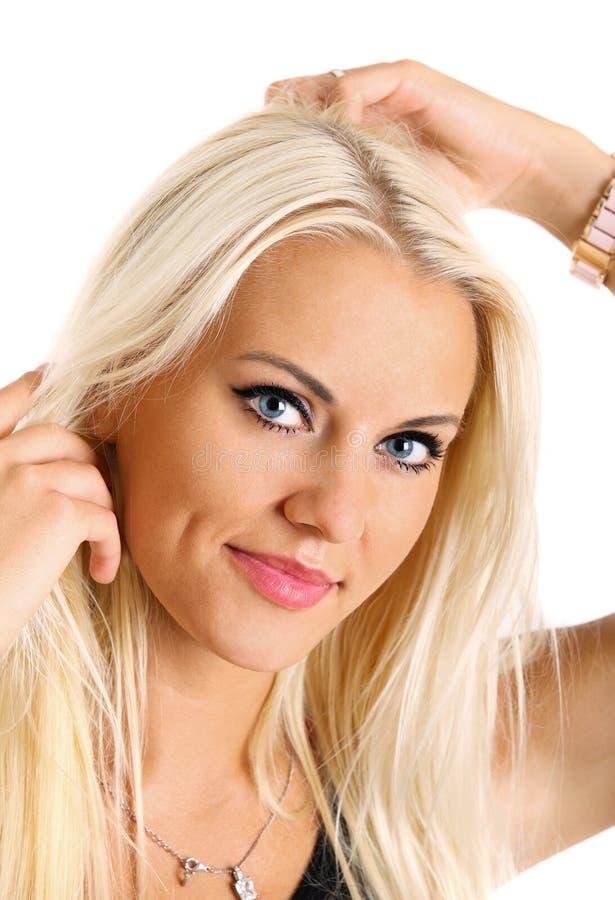 blond flickastående fotografering för bildbyråer