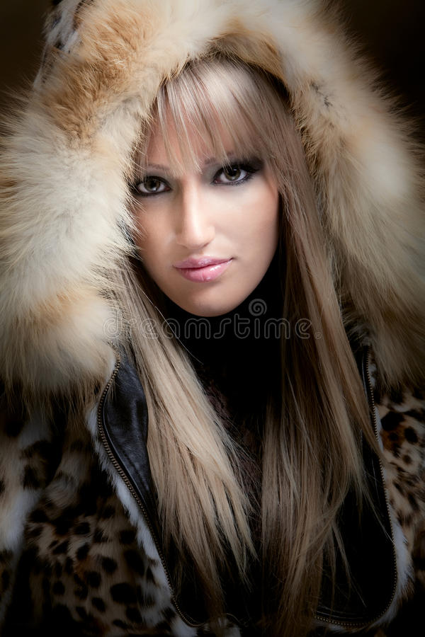 Download Blond In Fur Royalty Free Stock Photo - Image: 12375515