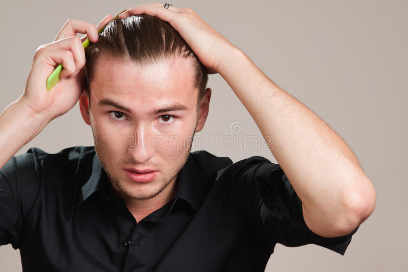Blond Gangster With Gel On His Hair Stock Photography