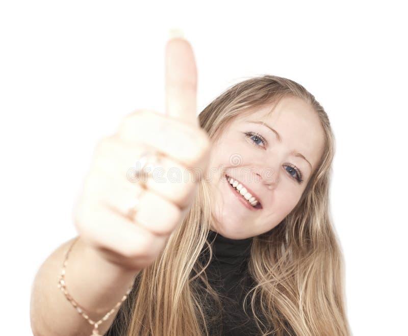 blond gestokkvinna arkivfoto