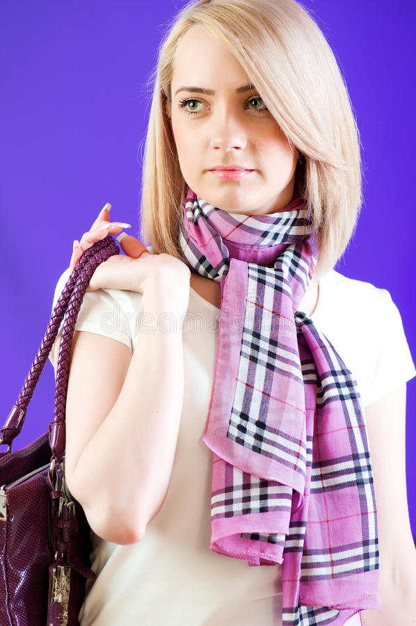Download Blond girl stock photo. Image of haircut, blond, looking - 14855974