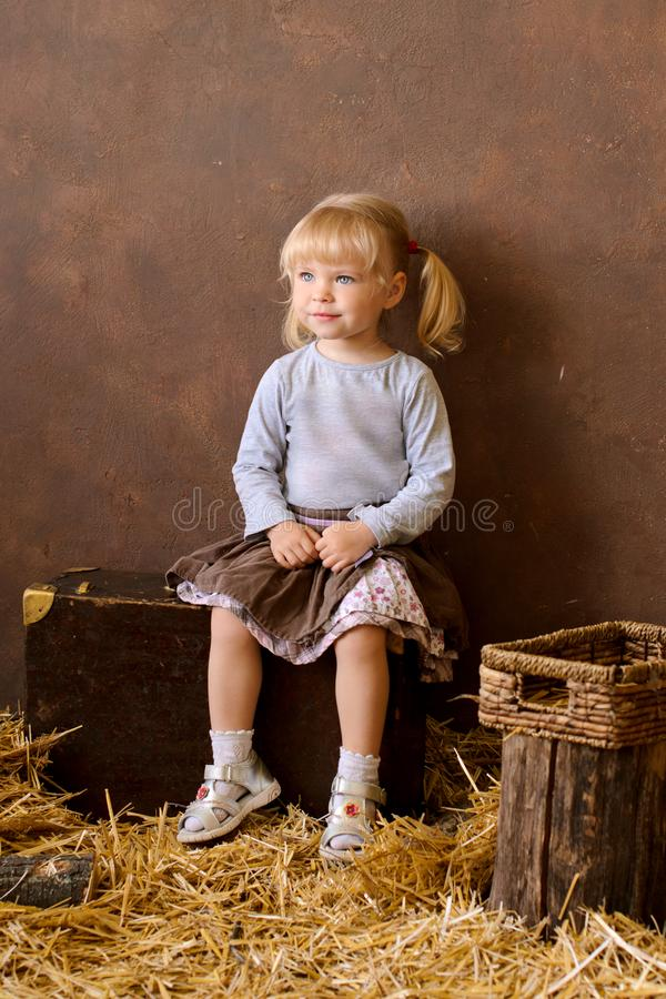 blond girl on the day of the Catholic Easter royalty free stock images